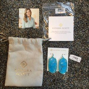 💘BNWT Turquoise Kendra Scott Danielle Earrings